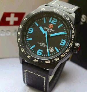 Jual jam tangan  swiss army SA2870 date black