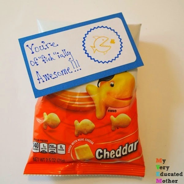 Goldfish Snack Gift Idea using PSA Essentials stamps