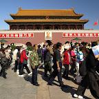 Tłumy Chińczyków przed Bramą Niebińskiego Spokoju