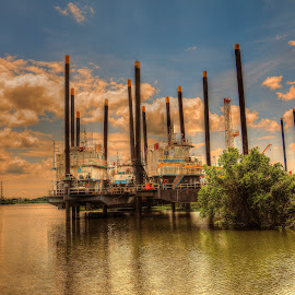 OIL RIGS by Ron Olivier - Digital Art Things ( oil rigs )