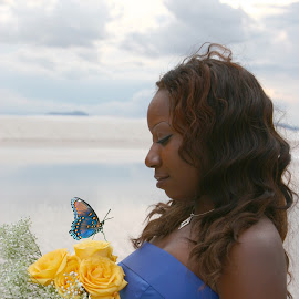 Butterfly image by Rich AMeN Gill by Rich Gill - Digital Art People ( rich amen gill, white sands national monument, yellow roses, new mexico, rich gill )