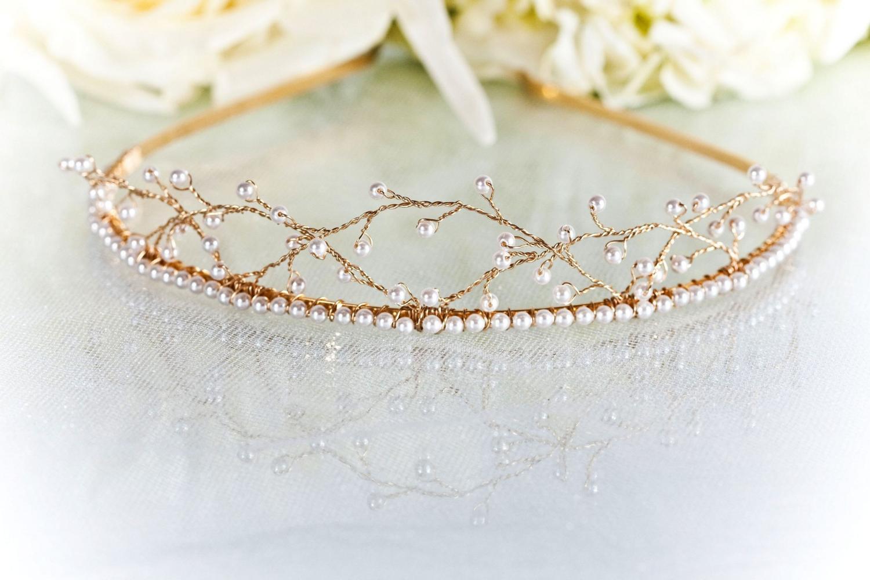 Bridal Tiara - Swarovski Pearl