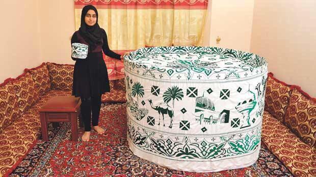 Life in Oman: عمانية تدخل موسوعة جينس للارقام القياسيه (الكمة العمانيه  التاقيه)