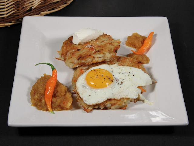 Potato and Carrot Latke