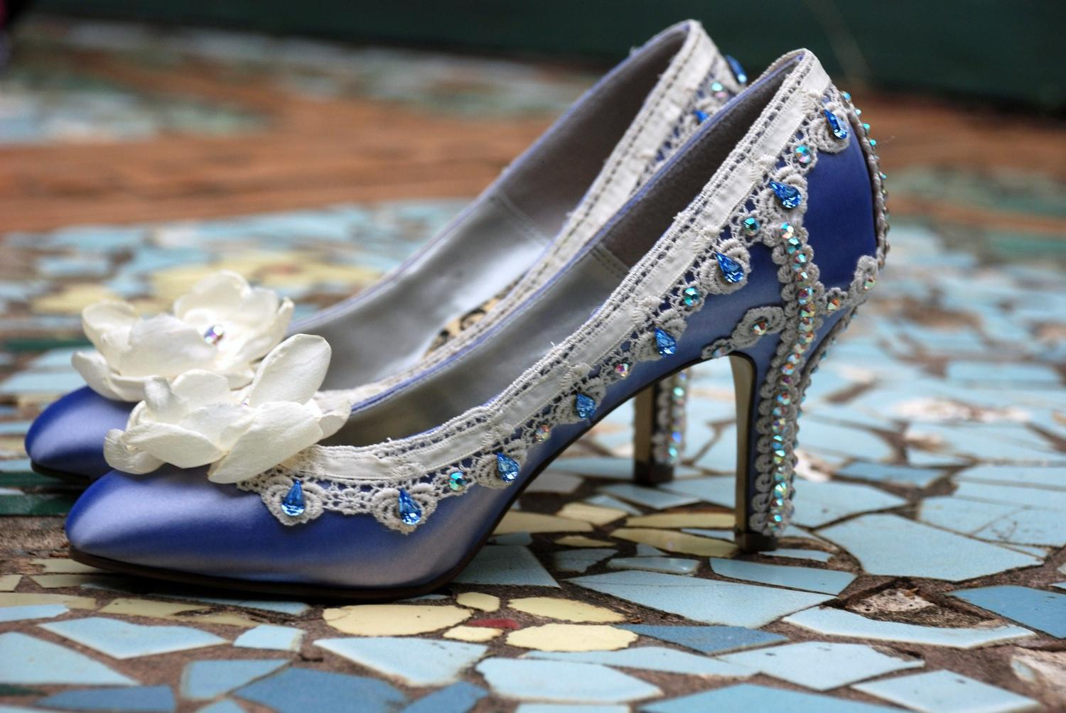Wedding Shoes... Blue Crystal