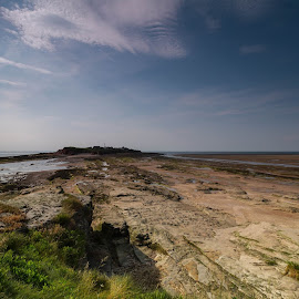 At the sea by Doris B - Landscapes Travel ( clouds, sky, nature, blue, green, sea, travel )