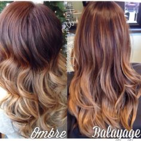 Ombre vs Balayage hair