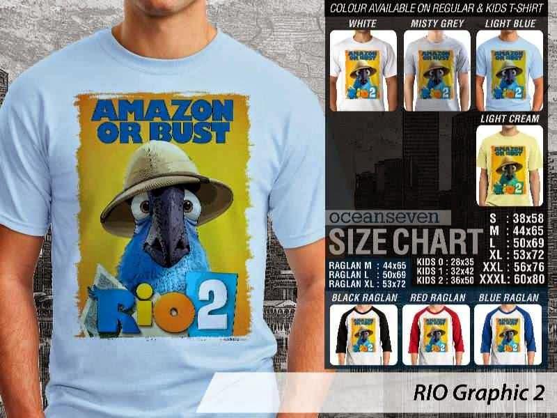 Kaos Film Animasi Lucu Desain RIO Graphic 2 distro ocean seven
