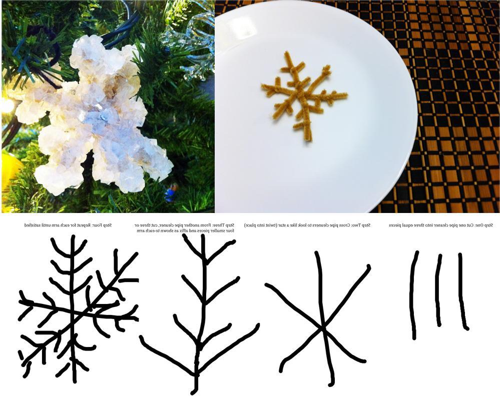 DIY Borax Snowflake Ornaments