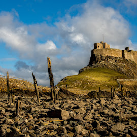 Lindisfarne Castle, Holy Island. by Phil Reay - Buildings & Architecture Other Exteriors ( holy, castle, lindisfarne, rocks, island )