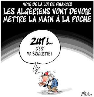 Vote de la loi de finances , les Algériens vont devoir mettre la main à la poche