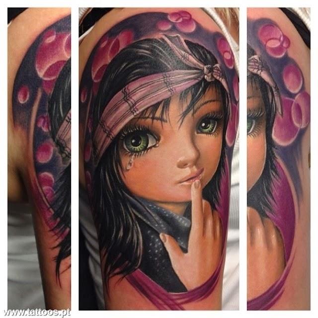 Fotos e Significados Tattoos de Bonecas - Tatuagens de Bonecas