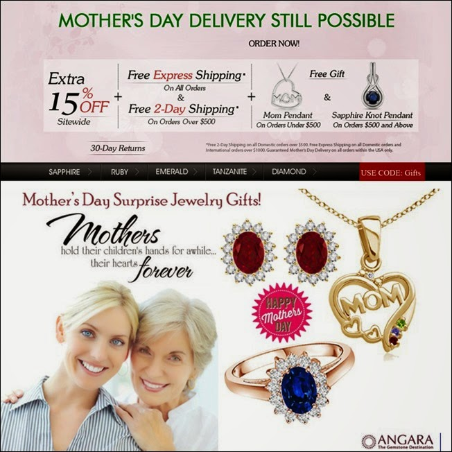 Mothers day gemstone jewelry gifts