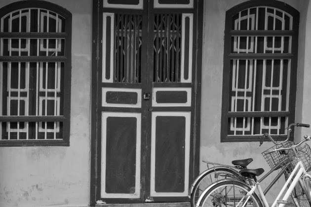 Entrance to an old house in Penang's Georgetown, Malaysia
