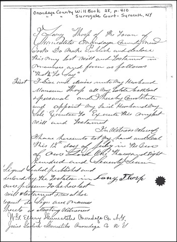 THORP_Lany_last will & test_1886_OnondagaCoNY_pg 2 of 2