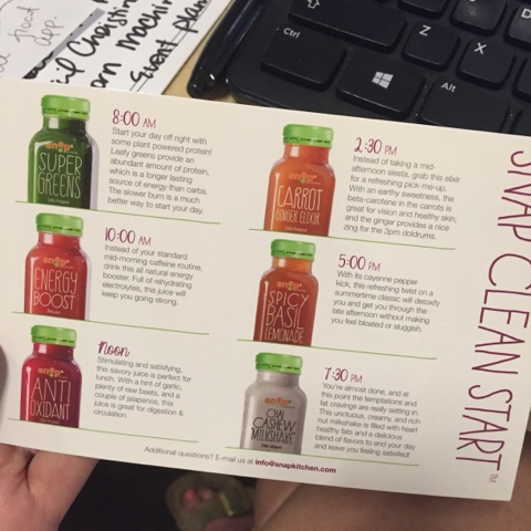 snap kitchen juice cleanse review