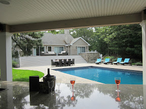 18' x 36' Pool with full length steps and LED color light - Hampton Bays, Long Island NY