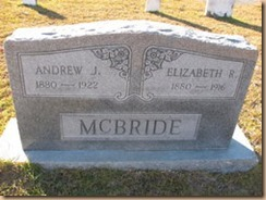 McBride Tombstone