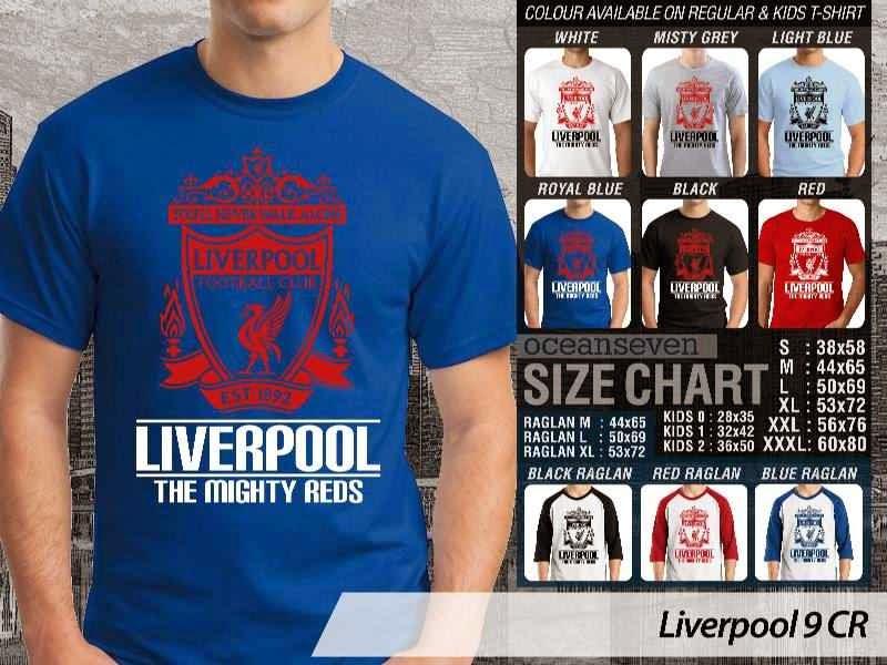 KAOS Liverpool 9 Liga Premier Inggris distro ocean seven