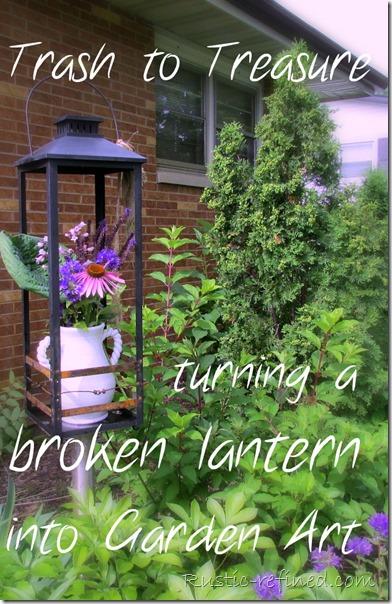 Yard Art - re-purposing junk into art for the garden