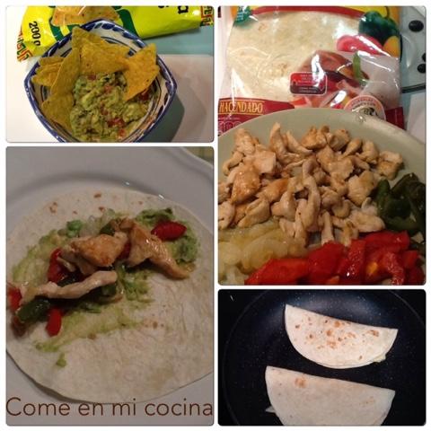 Guacamole y fajitas de pollo cena mexicana r pida y - Cocina rapida y facil ...