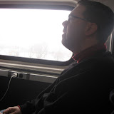 Jeff on the Amtrak going to Chicago IL 01142012