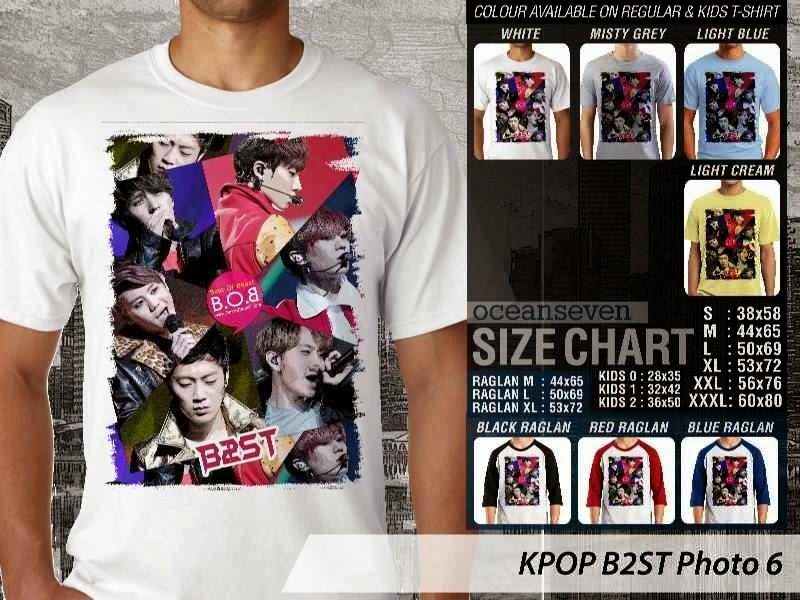 Kaos B2st 6 Photo K Pop Korea distro ocean seven