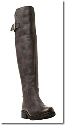 Steve Madden black leather over the knee boot