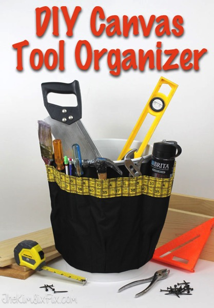 DIY canvas tool organizer