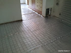krimpnet/staalmat om vloerverwarming te bevestigen