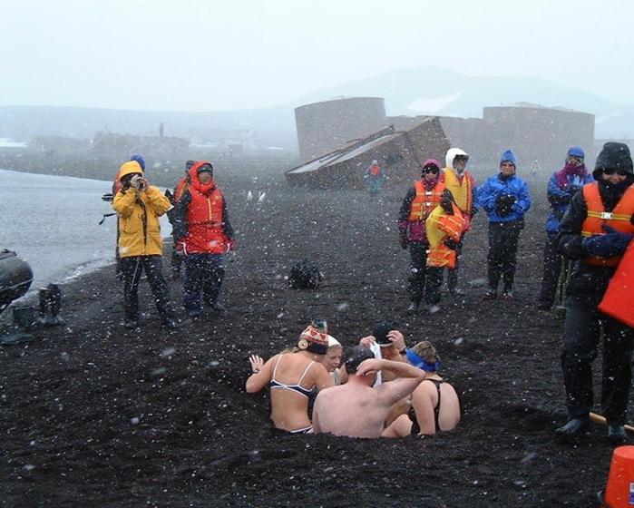Banho quente na Antártida