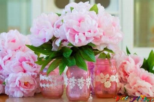 cắm hoa mẫu đơn cho ngày của mẹ