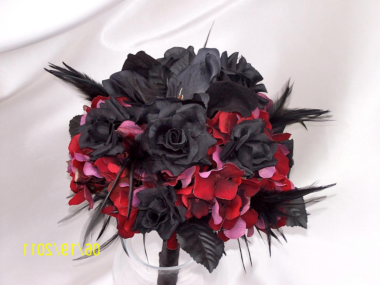 Goth Bridal bouquet ... red