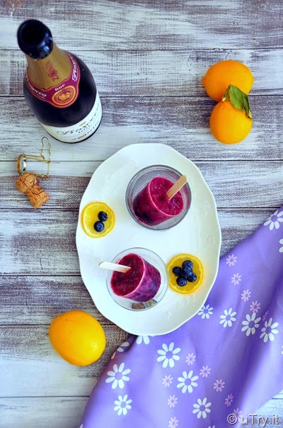 Prosecco-Blueberry-Lemon Pops and a Giveaway!  http://uTry.it
