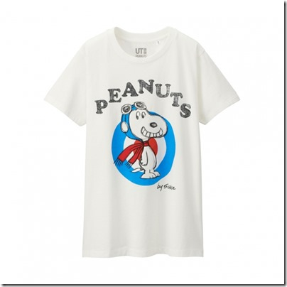UNIQLO UT X Peanuts Movie Women Short Sleeve Graphic T-Shirt 14