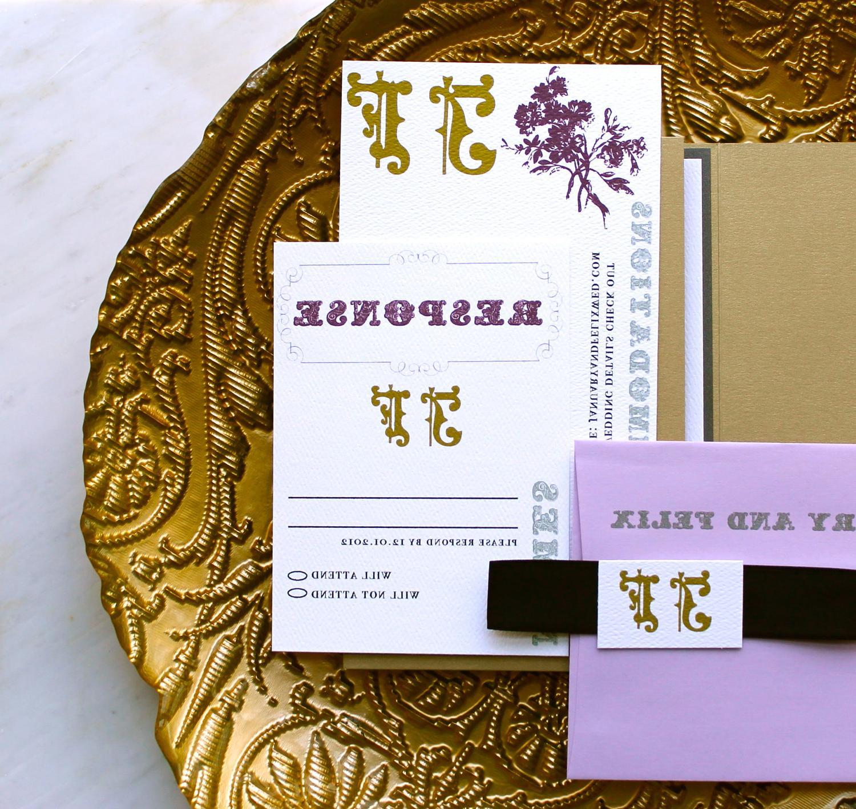 Vintage Gold Pocket Fold