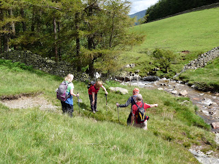 A quick chat before we leave Mosedale Beck