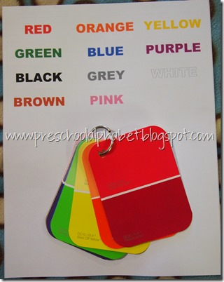 Preschool Alphabet: C is for Colors