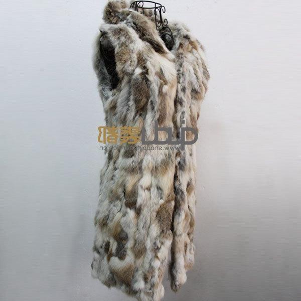 QD10492 Rabbit Fur Vest With