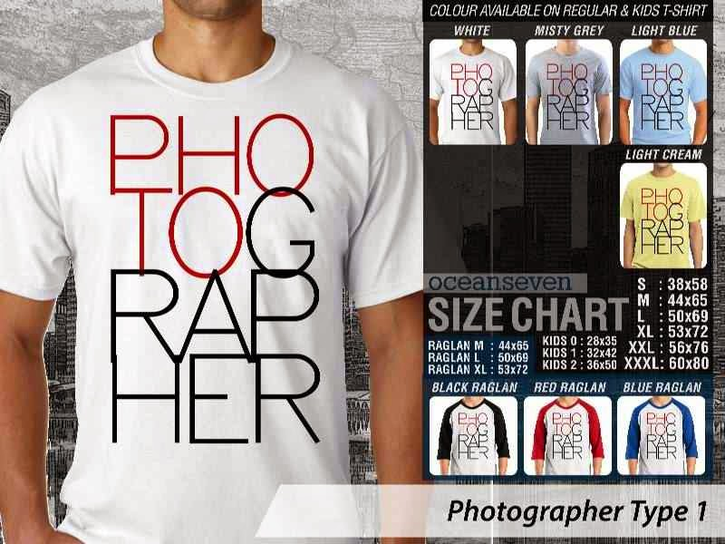 Kaos Photography Mania Photographer Type 1 distro ocean seven