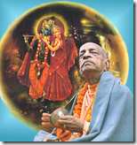 [Prabhupada worshiping Radha-Krishna]