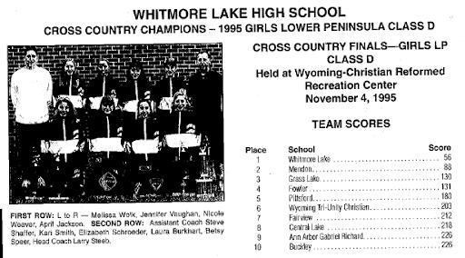 1995 MHSAA LP Girls Class D Team Results