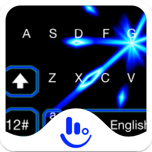 Live 3D Animated Blue Light Keyboard Theme