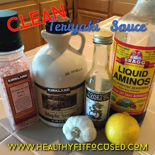 Clean Eating Teriyaki Marinade, www.HealthyFitFocused.com, Julie Little