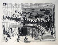 Dej BAO. 027 . Un Chemin dans la Pierre . 1977 . Lithographie . 55 x 73 cm