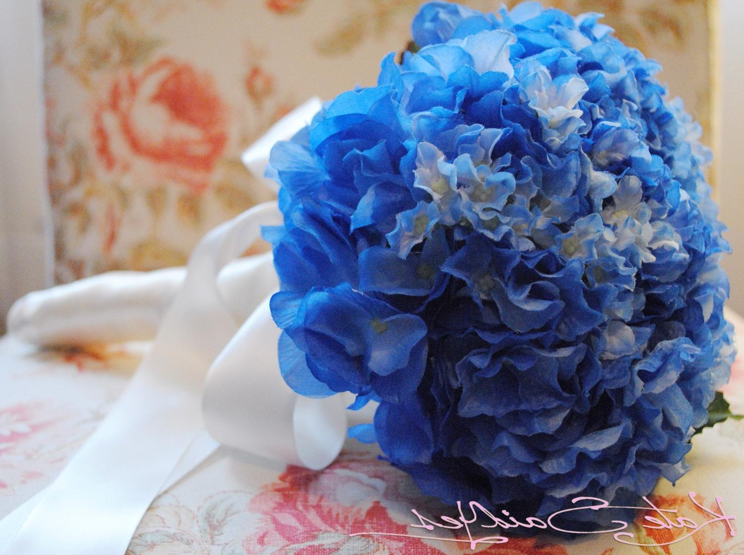 Blue Hydrangea Silk Wedding