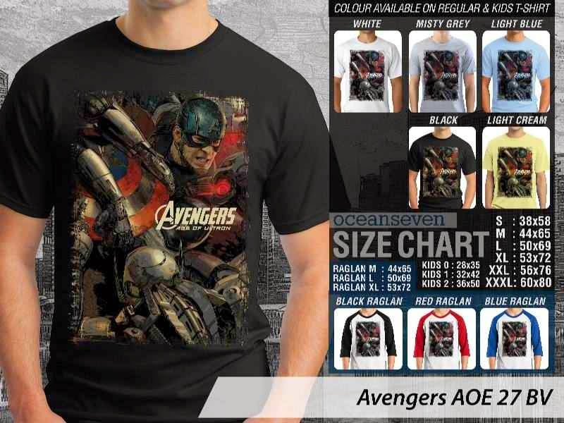 Jual Kaos Captain America superhero Avengers 27