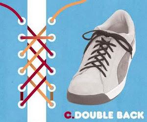 Memasang Tali Sepatu dengan Trik Double Back