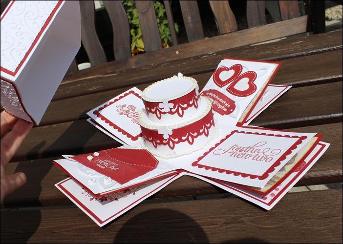 Explosion Box Love Wedding Hochzeit Cake  004