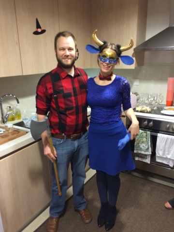 paul bunyan and babe the blue ox halloween costume